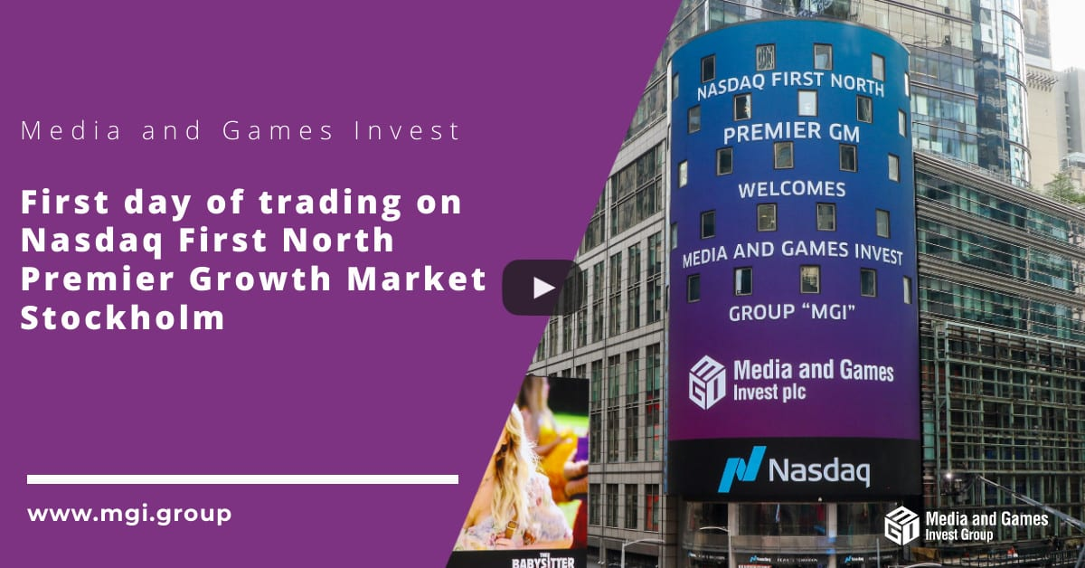 First day of trading on Nasdaq First North Premier Growth Market Stockholm